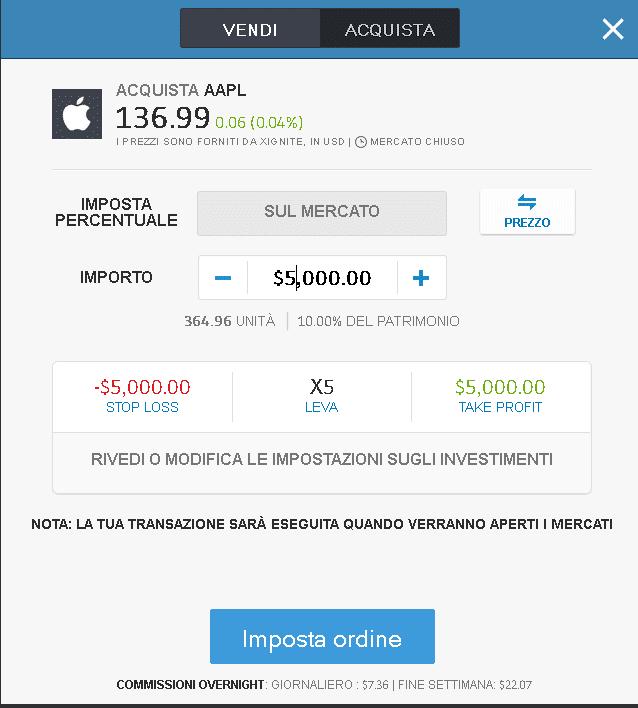 Investire con eToro