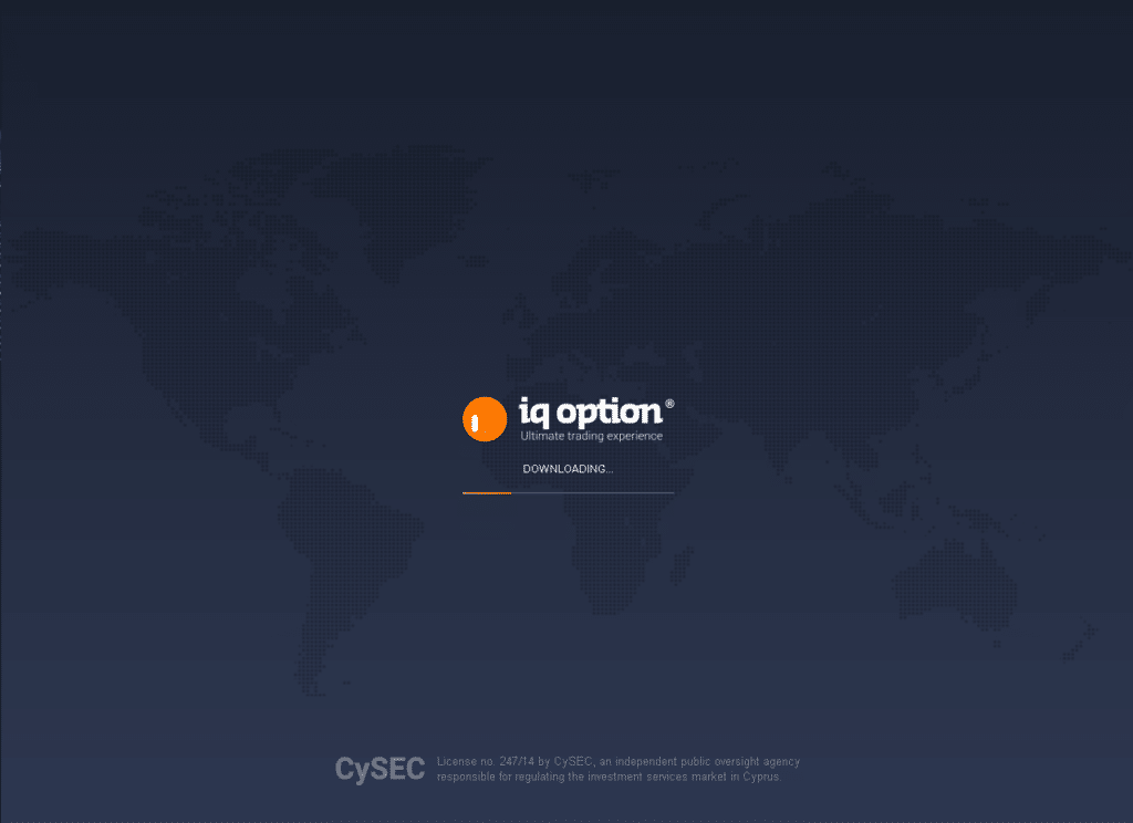 Download del web trader di Iq Option