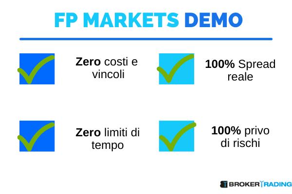 conto demo fp markets come funziona e cosa offre