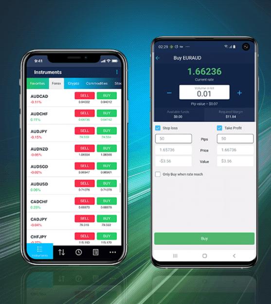applicazione proprietaria di fp markets per il trading da mobile