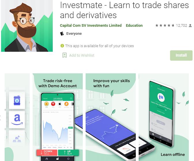 applicazione investmate di Capital.com dedicata alla formazione gratuita degli utenti